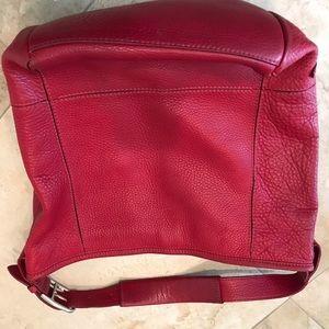 Hobo bag, pebble leather